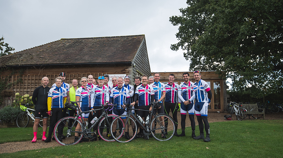 Epsom Cycling Club during a ride in 2016